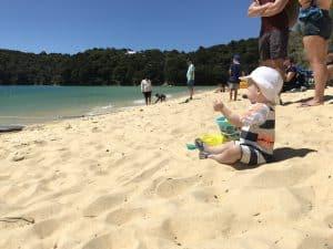 Jason op het strand