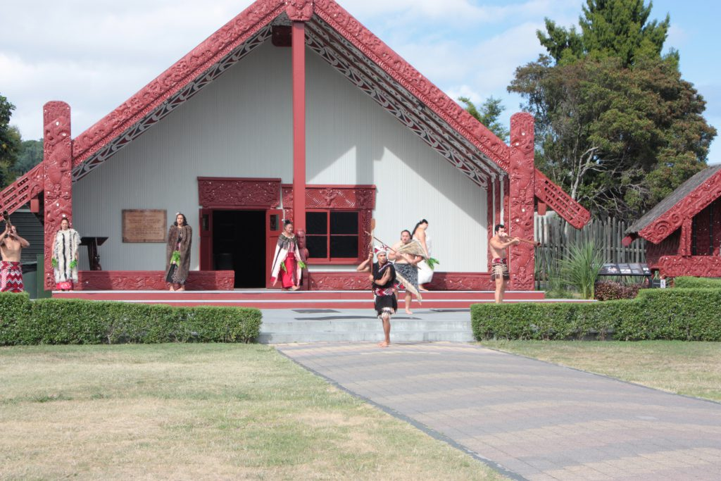 Rotorua Te Puia Maori optreden